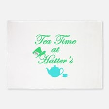 Tea Time at Hatters 5'x7'Area Rug