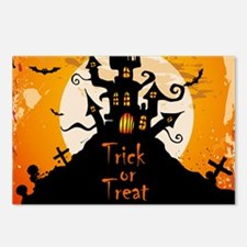 Castle On Halloween Night Postcards (Package of 8)