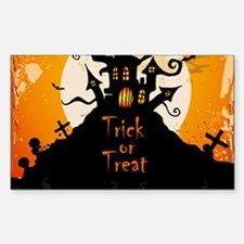 Castle On Halloween Night Decal