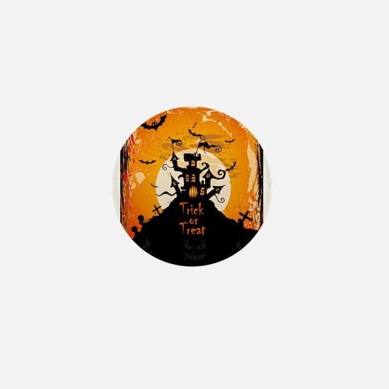 Castle On Halloween Night Mini Button (10 pack)