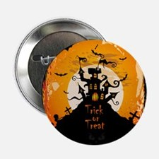 "Castle On Halloween Night 2.25"" Button (10 pack)"