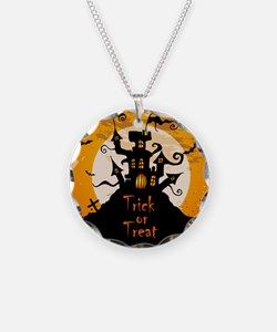 Castle On Halloween Night Necklace