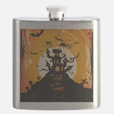 Castle On Halloween Night Flask
