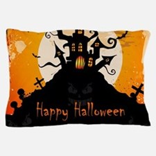 Castle On Halloween Night Pillow Case
