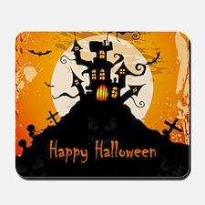 Castle On Halloween Night Mousepad