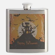 Castle On Halloween Night Flask