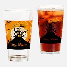 Castle On Halloween Night Drinking Glass
