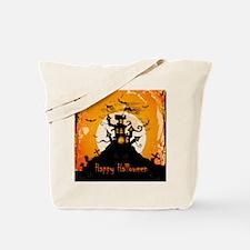 Castle On Halloween Night Tote Bag