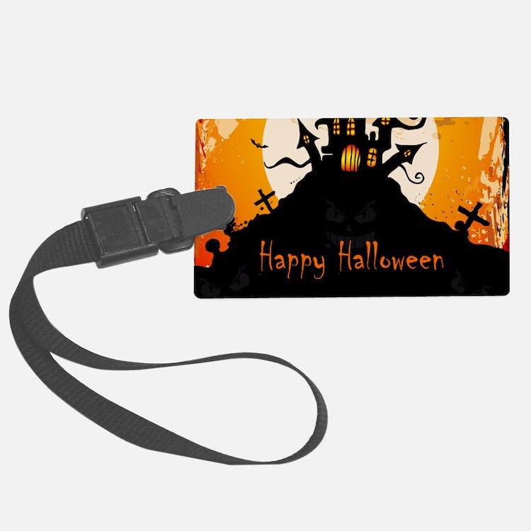 Castle On Halloween Night Luggage Tag