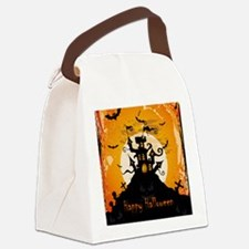 Castle On Halloween Night Canvas Lunch Bag