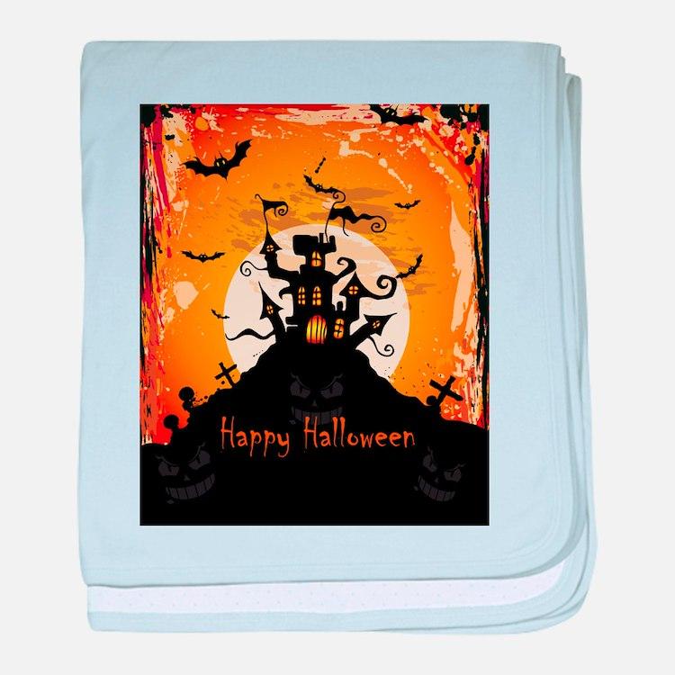 Castle On Halloween Night baby blanket