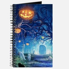 Halloween Night In Cemetery Journal
