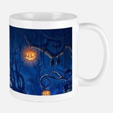 Halloween Night In Cemetery Mugs