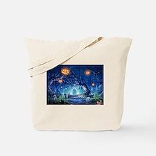 Halloween Night In Cemetery Tote Bag