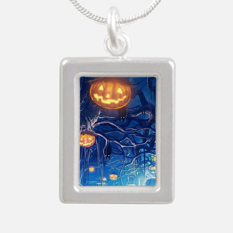 Halloween Night In Cemetery Necklaces