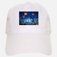 Halloween Night In Cemetery Baseball Baseball Cap