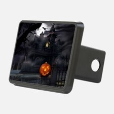 Halloween Pumpkin And Haunted House Hitch Cover