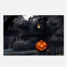 Halloween Pumpkin And Haunted House Postcards (Pac