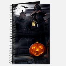 Halloween Pumpkin And Haunted House Journal
