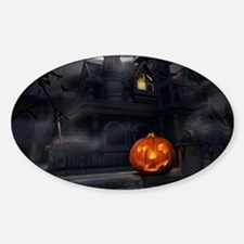 Halloween Pumpkin And Haunted House Decal