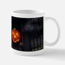 Halloween Pumpkin And Haunted House Mugs