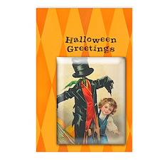 TLK004 Halloween Scarecrow Postcards (Package of 8