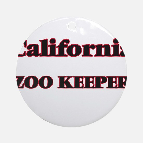 California Zoo Keeper Round Ornament