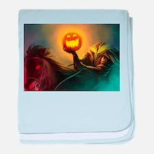 Rider With Halloween Pumpkin Head baby blanket