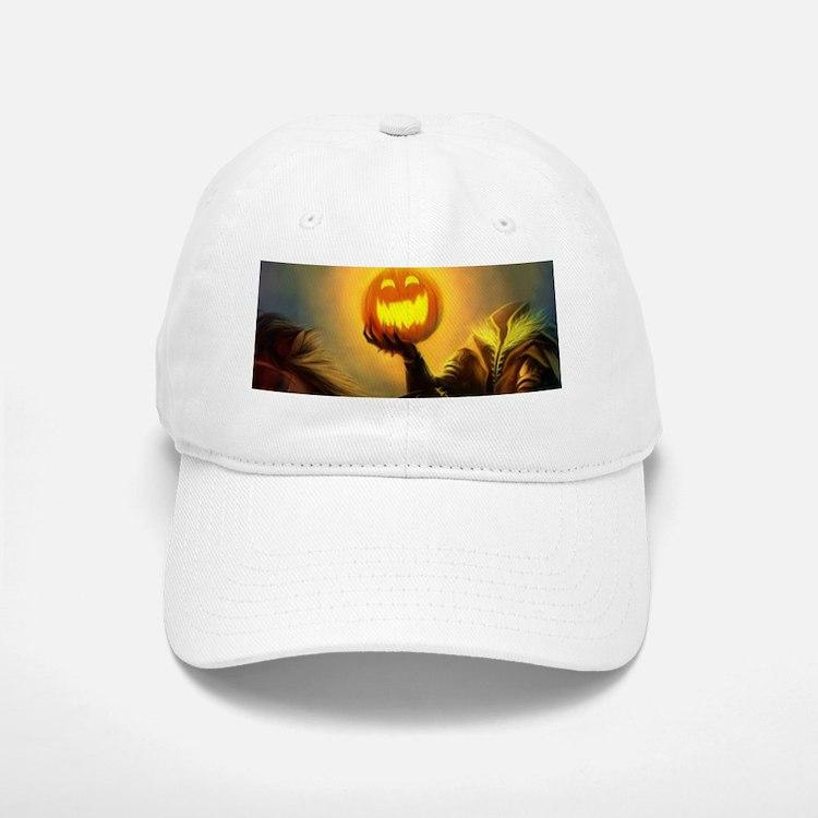 Rider With Halloween Pumpkin Head Baseball Baseball Cap