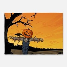 Halloween Scarecrow With Pumpkin Head 5'x7'Area Ru
