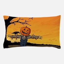 Halloween Scarecrow With Pumpkin Head Pillow Case