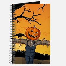 Halloween Scarecrow With Pumpkin Head Journal