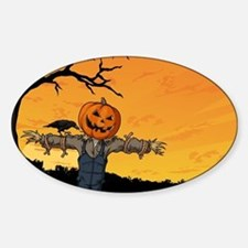 Halloween Scarecrow With Pumpkin Head Decal