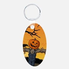 Halloween Scarecrow With Pumpkin Head Keychains