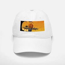 Halloween Scarecrow With Pumpkin Head Baseball Baseball Cap