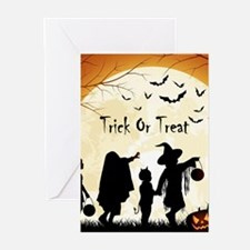 Halloween Trick Or Treat Kids Greeting Cards