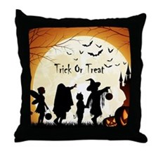 Halloween Trick Or Treat Kids Throw Pillow