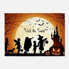 Halloween Trick Or Treat Kids 5'x7'Area Rug