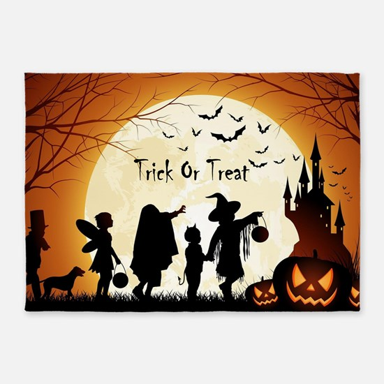 Halloween Trick Or Treat Kids 5'x7'Area Rug
