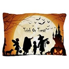 Halloween Trick Or Treat Kids Pillow Case