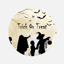 """Halloween Trick Or Treat Kids 3.5"""" Button (100 pac"""