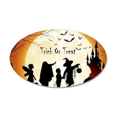 halloween trick or treat kids wall sticker by wickeddesigns4