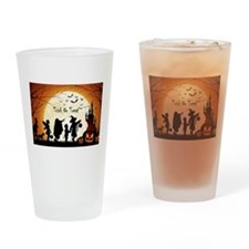 Halloween Trick Or Treat Kids Drinking Glass