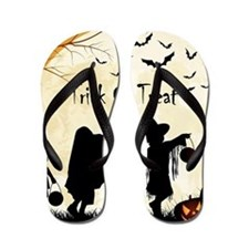 Halloween Trick Or Treat Kids Flip Flops