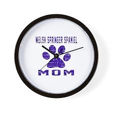 Welsh Springer Spaniel mom designs Wall Clock