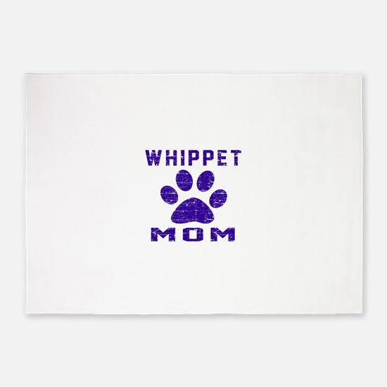 Whippet mom designs 5'x7'Area Rug