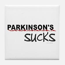 Parkinson's Sucks 1.3 Tile Coaster