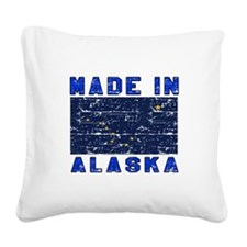 Made In Alaska Square Canvas Pillow