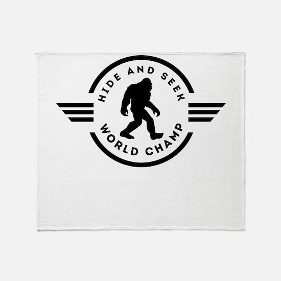 Hide And Seek Champ Bigfoot Throw Blanket