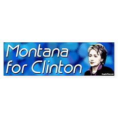 Montana for Clinton bumper sticker